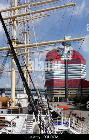 Gothenburg, Sweden, the sailing ship Viking boats in the harbor Lilla Bommen - Stock Photo