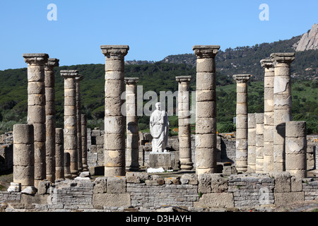 Roman temple ruin in Bolonia, Andalusia, southern Spain - Stock Photo