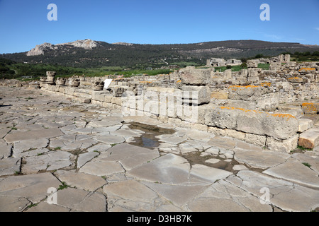 Ruins of the roman town Baleo Claudia in Andalusia, southern Spain - Stock Photo