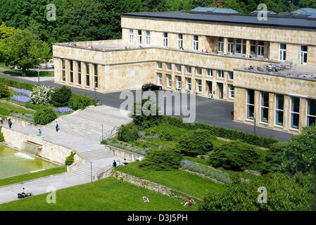 (dpa) - A view of the refectory on the Westend campus of Frankfurt University in Frankfurt, Germany, 18 May 2004. - Stock Photo