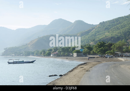 coast west of dili in east timor - Stock Photo