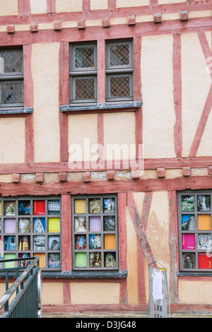 The fachwerk wall of the old house - Stock Photo