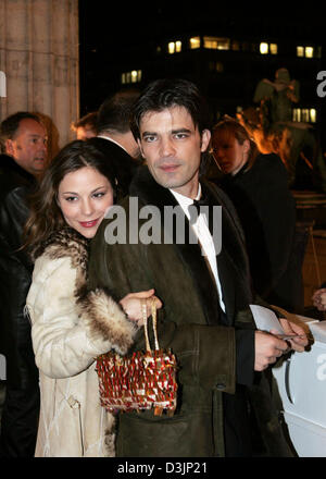 (dpa) - Actress Naike Rivelli, daughter of actress Ornella Muti, and her boyfriend Algen Nikolla arrive at the concert - Stock Photo