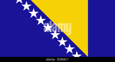 Flag of Bosnia and Herzegovina. - Stock Photo