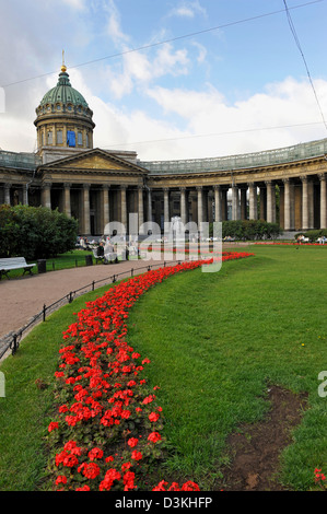 The Kazan Cathedral on Nevsky Prospect St Petersburg Russia - Stock Photo