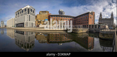 malmaison hotel in princes dock, liverpool stock photo
