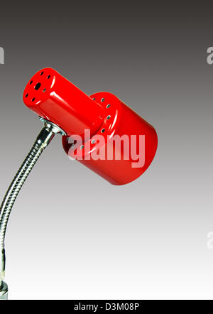Desktop red lamp isolated on white blackground - Stock Photo