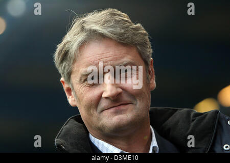 Stuttgart's new soccer coach Armin Veh pictured shortly before the kick off to the  Bundesliga soccer match between - Stock Photo
