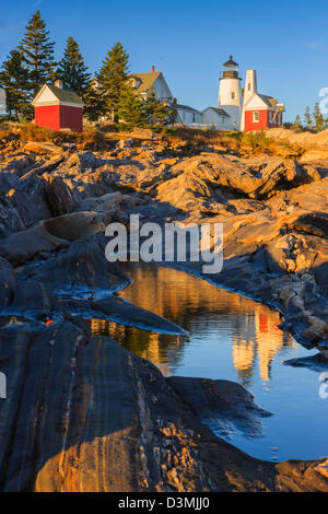 Pemaquid Point Light, Maine, USA - Stock Photo