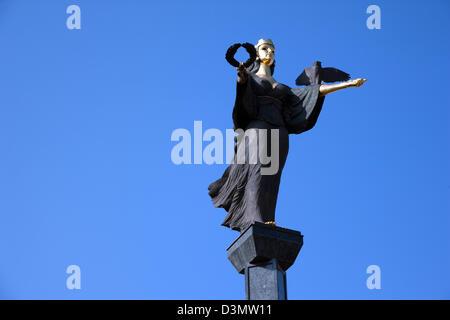 Sofia, Bulgaria, the Black Angel of Sofia on the Alexandrov Boulevard - Stock Photo