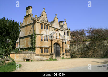 Gatehouse Stanway House Stanway Gloucestershire England UK - Stock Photo