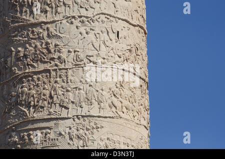 Italy, Lazio, Rome, Trajan's Column Detail - Stock Photo
