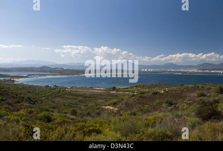 Panoramic view of Olbia gulf, Olbia Tempio province,  North-east coast of Sardinia,Italy - Stock Photo