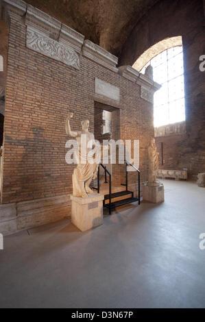 Italy, Lazio, Rome, Terme di Diocleziano, Baths of Diocletian, Museum, Stone Sculpture - Stock Photo