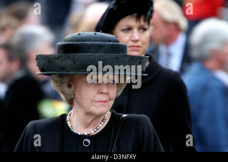 Queen Beatrix (front) and Crown Princess Maxima of the Netherlands are present at the national commemoration for - Stock Photo