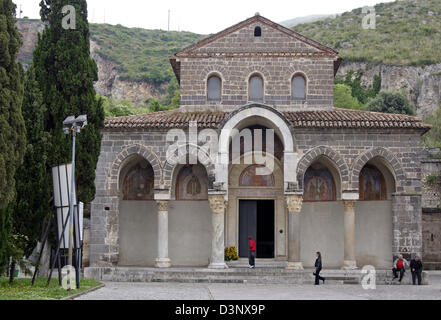 The picture shows the basilica Sant' Angelo in Formis at the bottom of the Monte Tifata, Italy, 30 April 2006. The - Stock Photo
