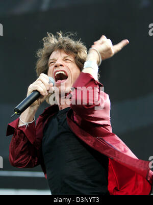 Mick Jagger of the Rolling Stones performs during a concert of the 'A Bigger Bang' Tour in Cologne, Germany, 23 - Stock Photo