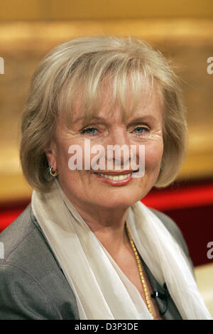 The photo shows the German actress Ruth Maria Kubitschek, known from numerous TV programmes ('Das Traumhotel', 'Die - Stock Photo