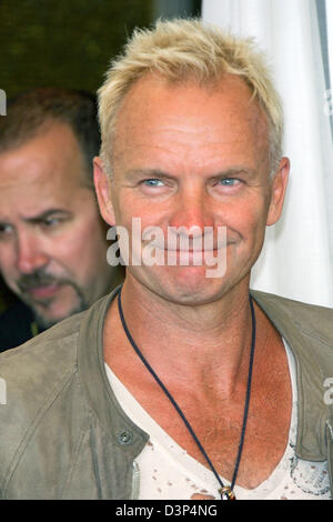 British musician, actor and producer Sting smiles for the cameras at a photocall for his film 'A Guide To Recognizing Your Saints' at the 63rd Venice Film Festival in Venice, Italy, Sunday, 03 September 2006. Photo: Hubert Boesl