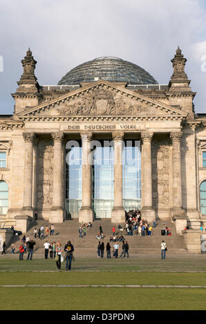 The German Reichstag in Berlin in the early evening light - Stock Photo
