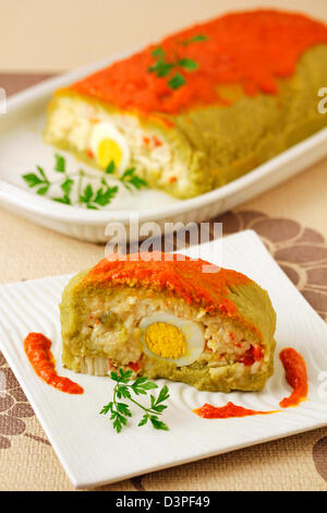 Dried peas roll with rice. Recipe available. - Stock Photo