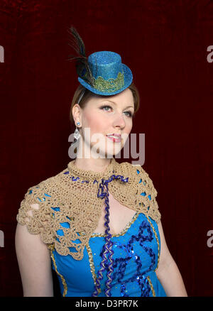 Portrait of a woman with a top hat - Stock Photo