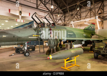 McDonnell Douglas F-4 Phantom II, Wings over the Rockies Air and Space Museum, Denver, Colorado. - Stock Photo