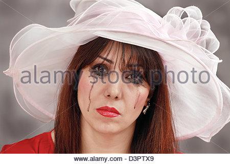 Tearful widow - Stock Photo