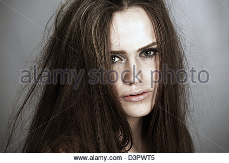 Messed up woman - Stock Photo