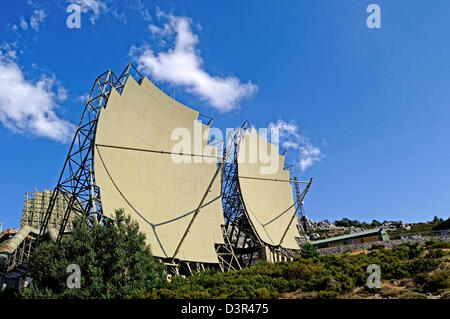 Obsolete radar  in an old military base - Stock Photo