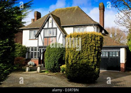 Mock Tudor house in Swindon, UK - Stock Photo