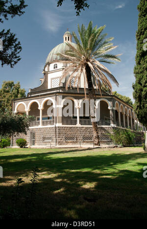 The Mount of the Beatitudes, where Jesus delivered the Sermon on the Mount - Stock Photo