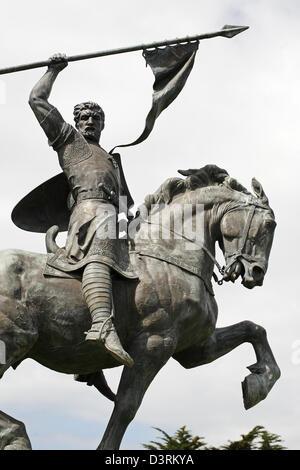 Statue of El Cid by Anna Hyatt Huntington,  San Francisco, California, USA - Stock Photo