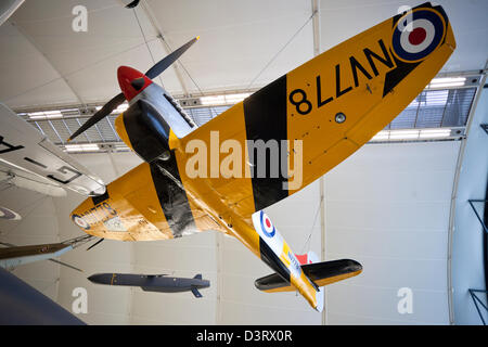 Hawker Tempest TT NV778 fighter aircraft, Royal Air Force (RAF) Museum, London, England, UK - Stock Photo