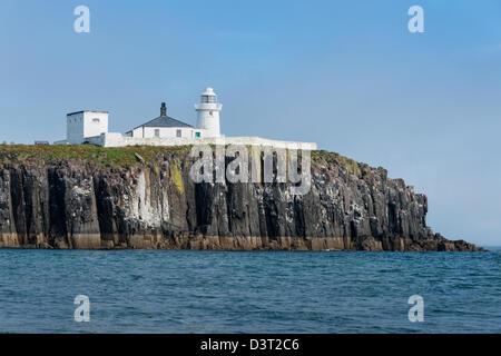 The Lighthouse on Inner Farne - Stock Photo