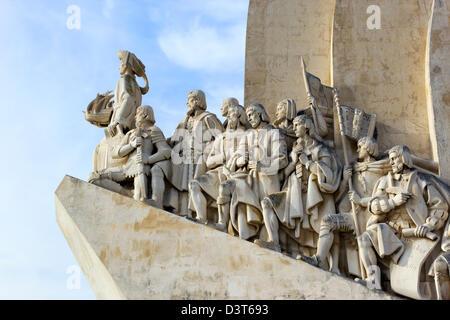 Santa Maria de Belém, Portugal. Padrão dos Descobrimentos or Monument to the Discoveries - Stock Photo