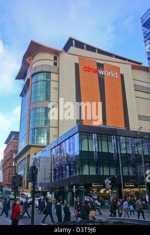 Cineworld multiplex cinema Glasgow.  World's tallest cinema and busiest in UK by customer base - Stock Photo
