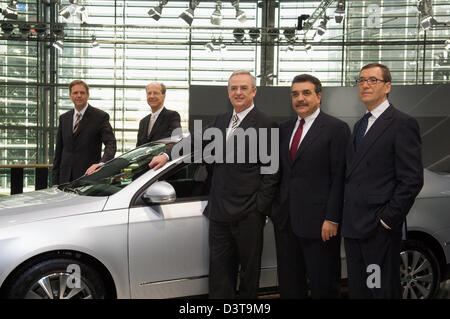 Wolfsburg, Germany, the Board of Volkswagen AG posing for the press - Stock Photo