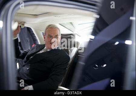 Hamburg, Germany, Dr. Martin Winterkorn, Volkswagen AG, in an Audi - Stock Photo