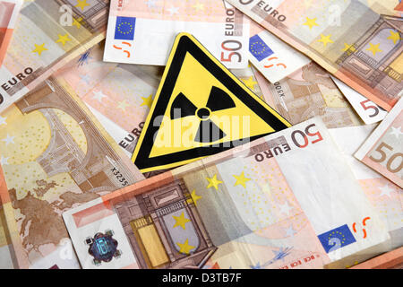 Berlin, Germany, symbol Photo nuclear power costs - Stock Photo