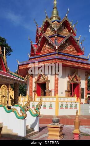 Malaysia, Penang, Georgetown, Wat Chayamangkalaram, - Stock Photo