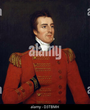 Duke of Wellington, Portrait of Arthur Wellesley, 1st Duke of Wellington and Prime Minister of UK - Stock Photo