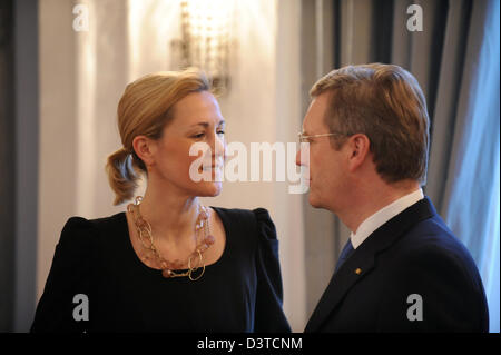 Berlin, Germany, Christian Wulff, CDU, and his wife Bettina Wulff during the New Year Reception - Stock Photo