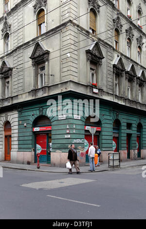 Budapest, Hungary, in the old VI. District Terezvaros - Stock Photo