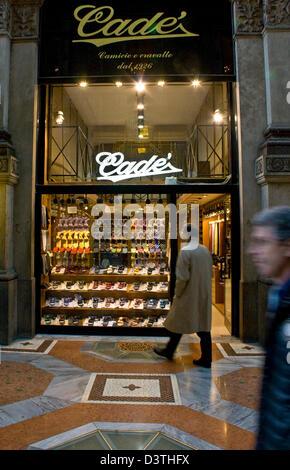 Cade mens designer shirt and tie boutique in elegant Galleria Vittorio Emanuele II Milan Lombardy Italy Europe - Stock Photo