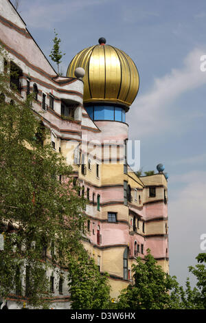 (dpa files) - The picture shows the building project 'Waldspirale' (lit.: Forest spiral) by Austrian artist and - Stock Photo