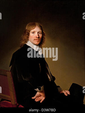Portrait of Eduard Wallis 1652 Johannes Verspronck Dutch Netherlands - Stock Photo