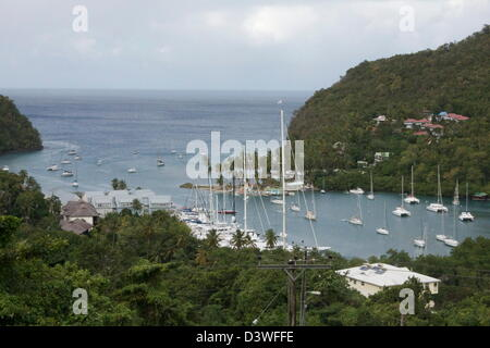 Marigot Bay Saint Lucia Caribbean - Stock Photo