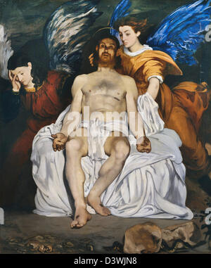 Edouard Manet, The Dead Christ with Angels 1864 Oil on canvas. Metropolitan Museum of Art, New York - Stock Photo