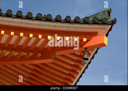 Roof of Konpon Daito Great Stupa, central pagoda in Danjo Garan of Kongobuji Temple complex at Koyasan (Mount Koya) - Stock Photo